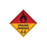 Dangerous Goods Labels & Placards - Organic Peroxide 5.2 (Black)