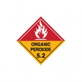 Dangerous Goods Labels & Placards - Organic Peroxide 5.2 (White)