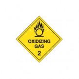 Dangerous Goods Labels & Placards - Oxidizing Gas 2