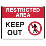 Keep Out W/Picto