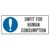 Kitchen And Food Safety Signs - Unfit For Human Consumption