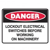 Lockout Electrical Switches Before Working On Machinery