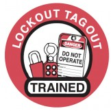Lockout Hard Hat Labels