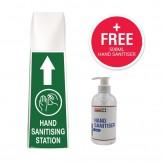 Mini Hand Sanitising Station Floor Stand + FREE Hand Sanitiser 500ml Pump