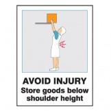 Manual Handling / Injury Avoidance Signs
