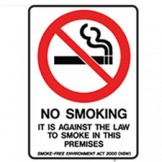 ACT It Is Against The Law To Smoke On These Premises