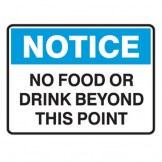 No Food Or Drink Beyond This Point