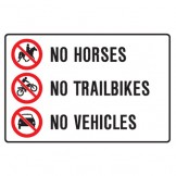 No Horses No Trailbikes No Vehicles
