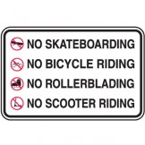 No Skateboarding Riding No Bicycle Riding No Rollerblading No Scooter Riding
