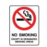 No Smoking Except In Designated Smoking Areas