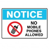 Notice No Mobile Phones Allowed