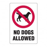 Park And Playground Sign - No Dogs Allowed