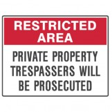 Private Property Trespassers Will Be Prosecuted