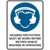Hearing Protection Must Be Worn Within