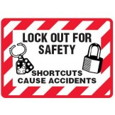 Lock Out For Safety Shortcuts Cause Accidents Labels