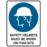 Safety Helmets Must Be Worn On This Site - Ultra Tuff Signs