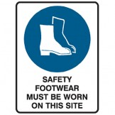 Safety Footwear Must Be Worn On This Site - Ultra Tuff Signs