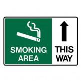 Smoking Area This Way - Up Arrow