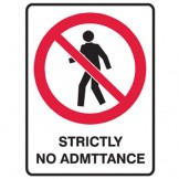 Strictly No Admittance - Glow Sign