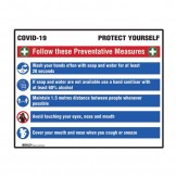 COVID-19 Prevention Multi-Message Sign