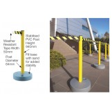 Outdoor Tensabarrier Stanchion System