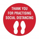Floor & Carpet Marking Sign - Thank You For Practising Social Distancing