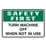 Turn Machine Off When Not In Use