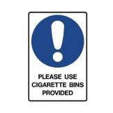 Use Cigarette Bins Provided