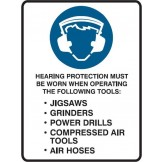 Hearing Protection Must Be Worn When Operating The Following Tools: