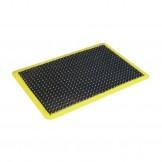 Mattek Anti-Fatigue Mat Ergo Tred Black with Yellow Border - 600 x 900mm