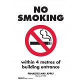 VIC NO SMOKING WITHIN 4 METRES OF BUILDING ENTRANCE