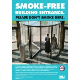 VIC STATE SMOKE FREE BUILDING ENTRANCE A2 POSTER