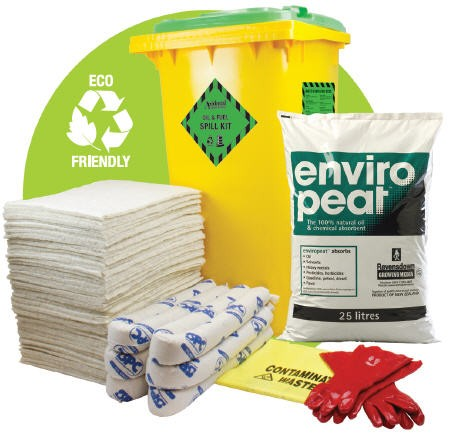 Accidental oil fuel spill kit 120 litre eco friendly for Eco friendly home kits