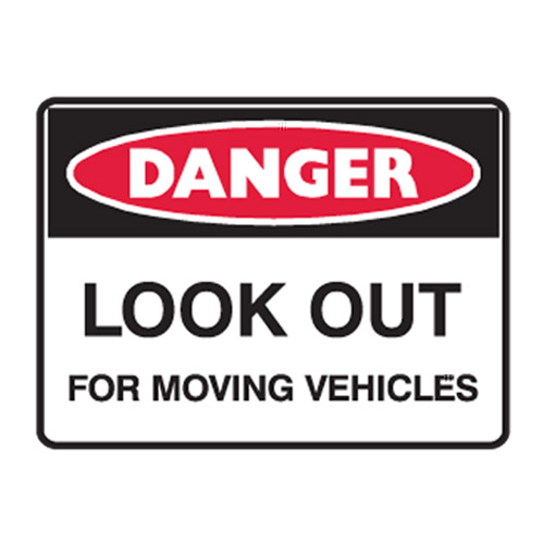 Danger Look Out For Moving Veh...