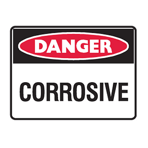 Danger - Highly corrosive chemicals,dhcc-sh001 :: ANSI SIGNS ...