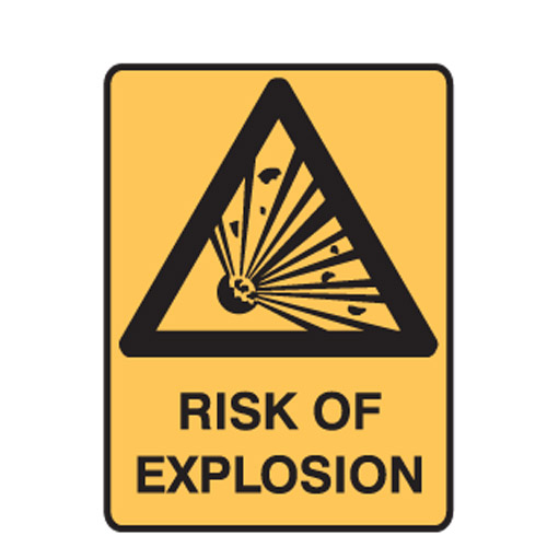 dangerous goods signs warning sign risk of explosion
