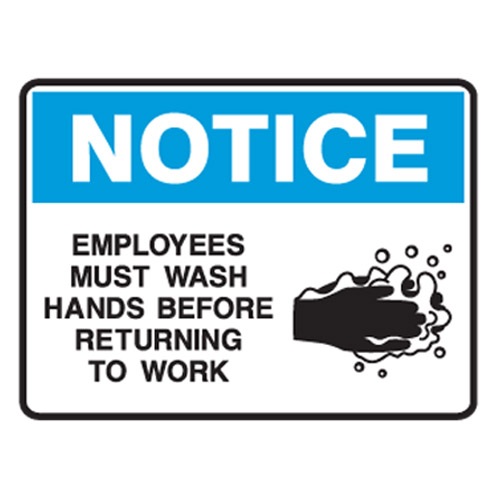 employees must wash hands before retuning to work employees must wash