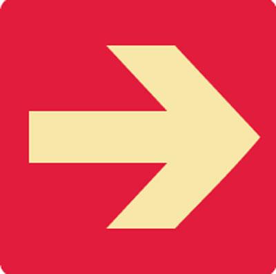 Exit And Evacuation Signs Arrow Symbol