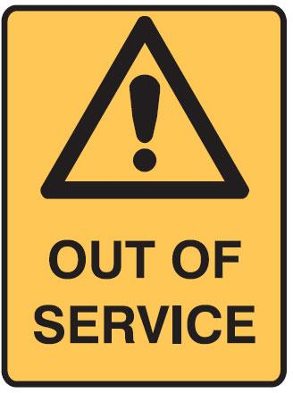Tagout Sign - Out Of Service