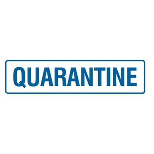 quarantine safety accidental door signs health