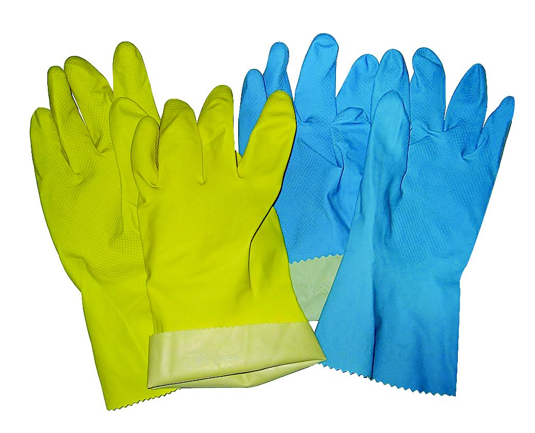 Silver Lined Rubber Wash Up Glove