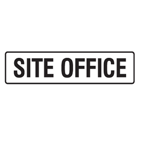 site office door sign site office site office back site office